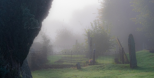Autumnal Morning Mist in the Churchyard