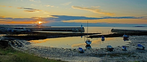 Seahouses Sunset